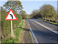 SK7585 : Left hand bend with road junction to left by Alan Murray-Rust