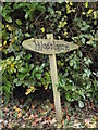 TM3272 : Woodlands sign by Adrian Cable