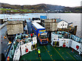 NG3863 : Loading the Lochmaddy ferry at Uig by John Lucas