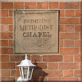 SK7390 : Datestone on the former Primitive Methodist chapel by Alan Murray-Rust