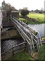 TM1678 : Walkway across the River Waveney to Billingford Gauging Station by Geographer