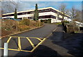 ST2590 : Entrance to Risca Community Comprehensive School by Jaggery
