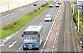 J3775 : City Airport bus, Sydenham bypass, Belfast (November 2014) by Albert Bridge