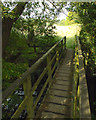SP2080 : Footbridge over a brook south of Hampton in Arden by Robin Stott