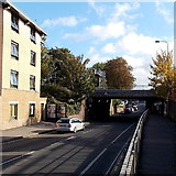 SP5006 : West side of Botley Road railway bridge, Oxford by Jaggery