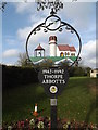 TM1979 : Thorpe Abbotts Village sign by Adrian Cable