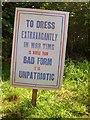 SJ7387 : To Dress Extravagantly is Unpatriotic by David Dixon