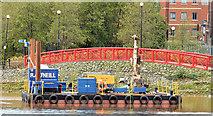 J3473 : Survey barge, River Lagan, Belfast - November 2014(4) by Albert Bridge