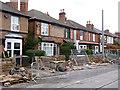 SK5337 : Building walls on Fletcher Road by Alan Murray-Rust