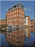 SO8554 : Worcester - former flour mill by Chris Allen
