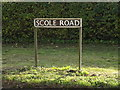 TM2179 : Scole Road sign by Adrian Cable
