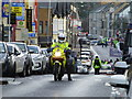 H4572 : Police escort, Market Street, Omagh by Kenneth  Allen