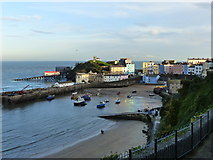 SN1300 : Tenby harbour in evening autumn sunshine by Ruth Sharville