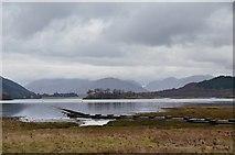 NN0958 : Loch Leven shore from Glencoe village by Jim Barton