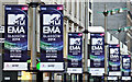 NS5965 : MTV EMA banners on Sauchiehall Street by Thomas Nugent