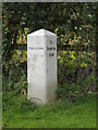 TM1681 : Milepost on Norwich Road by Adrian Cable