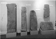 NS4074 : Dumbarton Castle: ancient stones by Lairich Rig