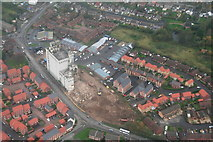 TF3387 : Goodbye to the Maltings - and welcome back to Louth Station: aerial 2014 by Chris