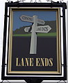 SD3234 : Sign for the Lane Ends, Hawes Side by JThomas