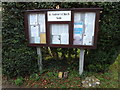 TM1579 : St.Andrew's Church Notice Board by Adrian Cable
