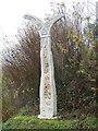 NS4062 : Millennium milepost, Kilbarchan by Richard Webb