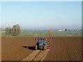 TF0921 : Drilling winter wheat near Bourne by Rex Needle