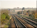 SK9844 : Looking east from Ancaster Station by Alan Murray-Rust