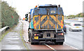 J3876 : Road sweeper, Sydenham bypass, Belfast (November 2014) by Albert Bridge