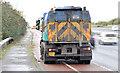 J3876 : Road sweeper, Sydenham bypass, Belfast (November 2014) by Albert Bridge