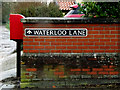 TM1478 : Waterloo Lane sign & Waterloo Lane Postbox by Geographer