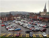 SK3871 : Holywell Cross Car Park, Chesterfield, Derbys. by David Hallam-Jones