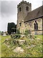 SK3728 : Remains of Old Stone Cross, St James' Churchyard by David Dixon