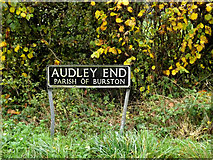TM1481 : Audley End sign by Adrian Cable