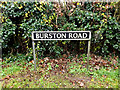TM1582 : Burston Road sign by Adrian Cable