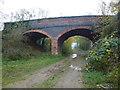 TF0803 : Ufford bridge over former railway line by Richard Humphrey