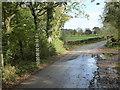 SX9599 : Flood level marker post near Paddleford Bridge by Rod Allday