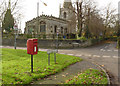 SK6590 : Scrooby Post Office postbox ref. DN10 254 by Alan Murray-Rust