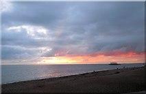 TQ3103 : Sunset over Brighton Beach by Paul Gillett