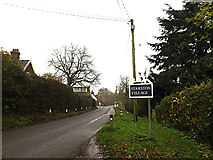 TM2384 : The Street & Starston Village sign by Geographer