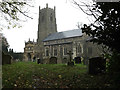 TM2185 : St.Mary's Church, Pulham St.Mary by Adrian Cable