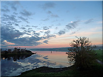 NH5658 : Dusk at the entrance to the Dingwall Canal by Julian Paren
