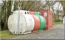 J5879 : Recycling bins, Donaghadee (November 2014) by Albert Bridge