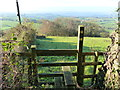 SO4603 : Stile to diverging footpaths, near Llanishen by Ruth Sharville