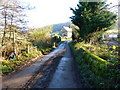 SO4604 : Road from the bridge over the brook at Lanvair, near Llanishen by Ruth Sharville