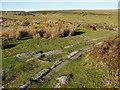 SX7677 : Haytor granite railway, points by Alan Hunt