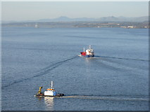 NT1279 : The Firth of Forth - a view from the Road Bridge by M J Richardson