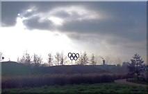 TQ3785 : Olympic Rings in the Northern Parklands by Paul Gillett