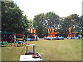 TQ1145 : Ready for the start of the Abinger Medieval Fair by Jonathan Hutchins