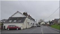 SJ4335 : A terrace by the main road in Welshampton by David Smith