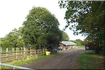 SP0575 : Stables at Mount Pleasant Farm by Ryknild Street, south of Forhill by Robin Stott